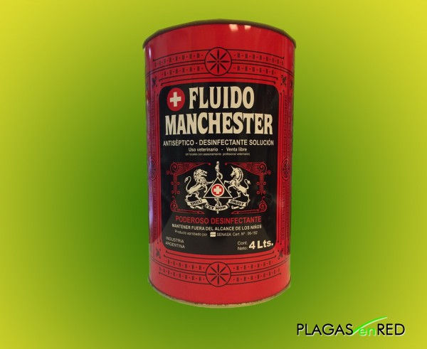 Fluido Manchester 4 ltrs desinfectante Acaroina
